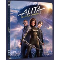 Алита: Боевой ангел (4K ULTRA HD Blu-ray + 3D Blu-ray) Black Baron Steelbook