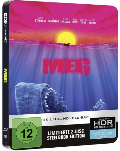 Мег: Монстр глубины  (4K ULTRA HD Blu-ray) Limited Steelbook