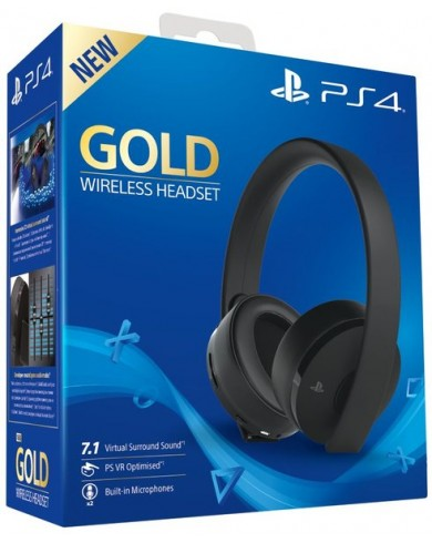 Наушники Sony PlayStation 4 Gold Wireless Headset