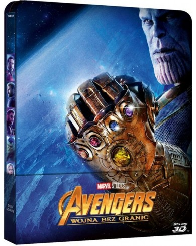 Мстители: Война бесконечности Steelbook  (3D Blu-ray)