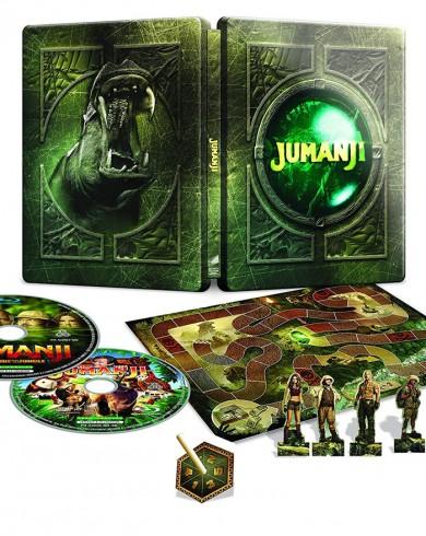 Джуманджи и Джуманджи: Зов джунглей Steelbok (2 Blu-ray + игра)