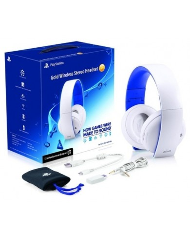 Наушники Sony PlayStation 4 Gold Wireless Headset (WHITE)